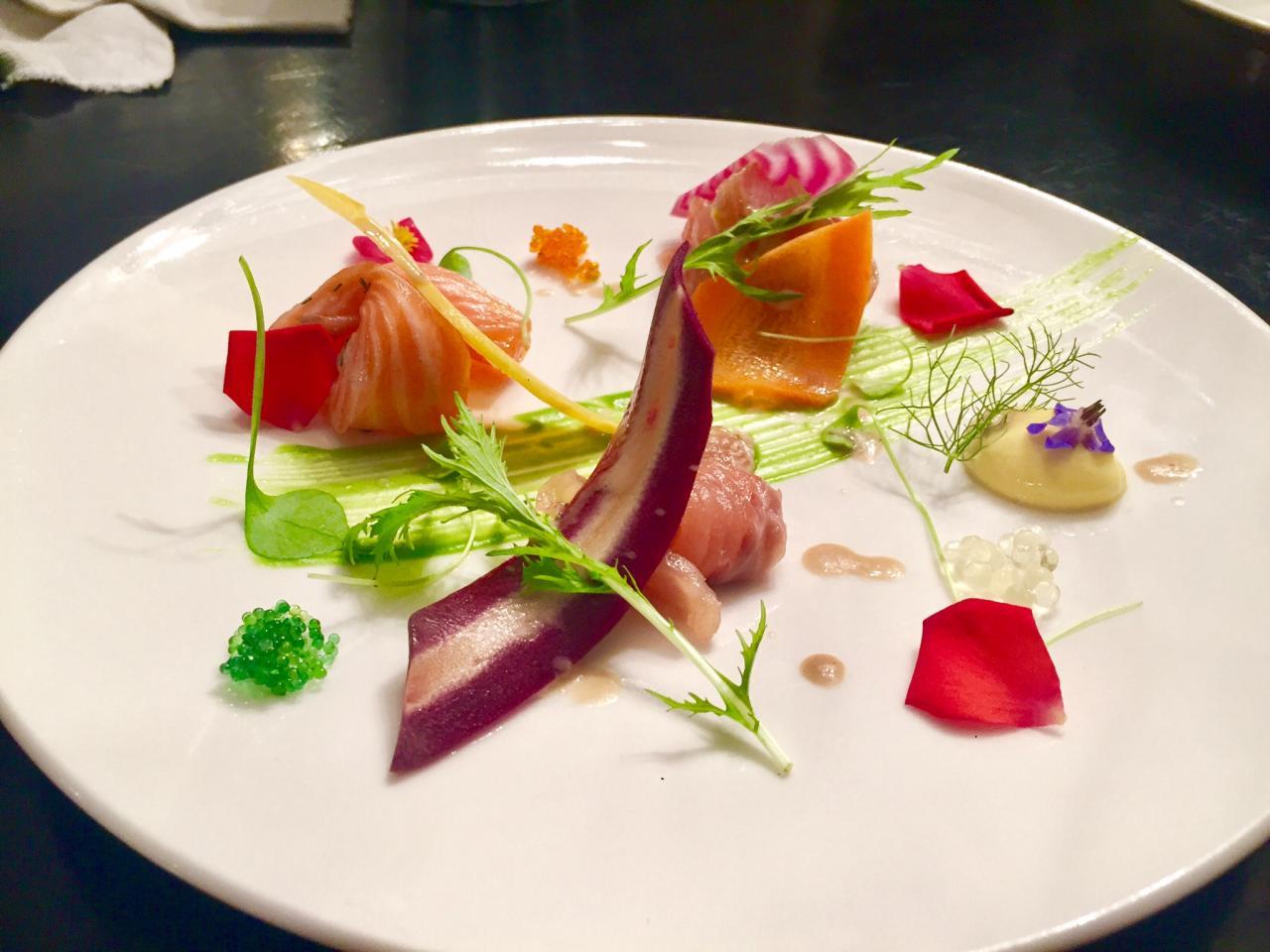 Assiette de saumon pousse de pourpier