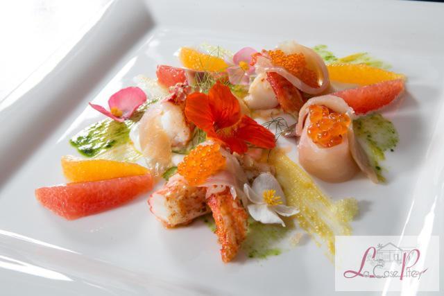 King crab, saumon sauvage fumé (Crédit Photo Laurent Pfeiffer)