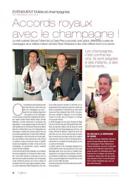 Evenement champagne