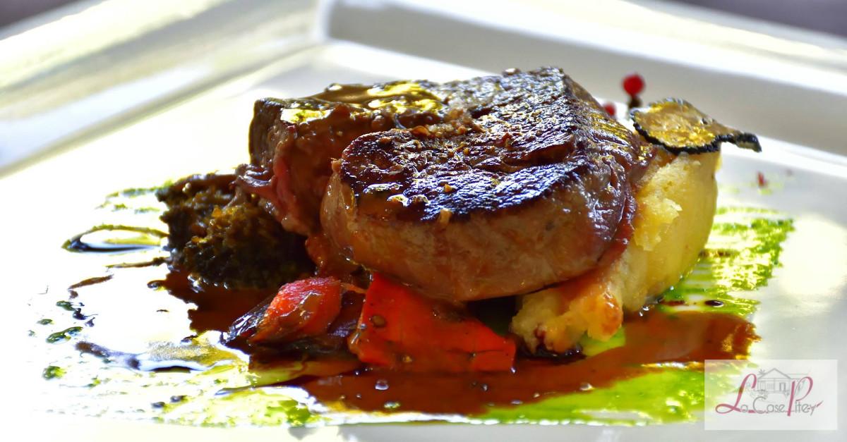 Filet de montbeliarde puree truffee legumes bios des makes reduction de jus de morilles 1