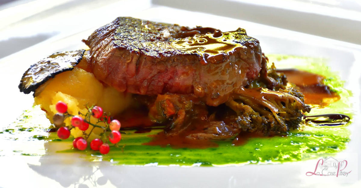 Filet de montbeliarde puree truffee legumes bios des makes reduction de jus de morilles 3