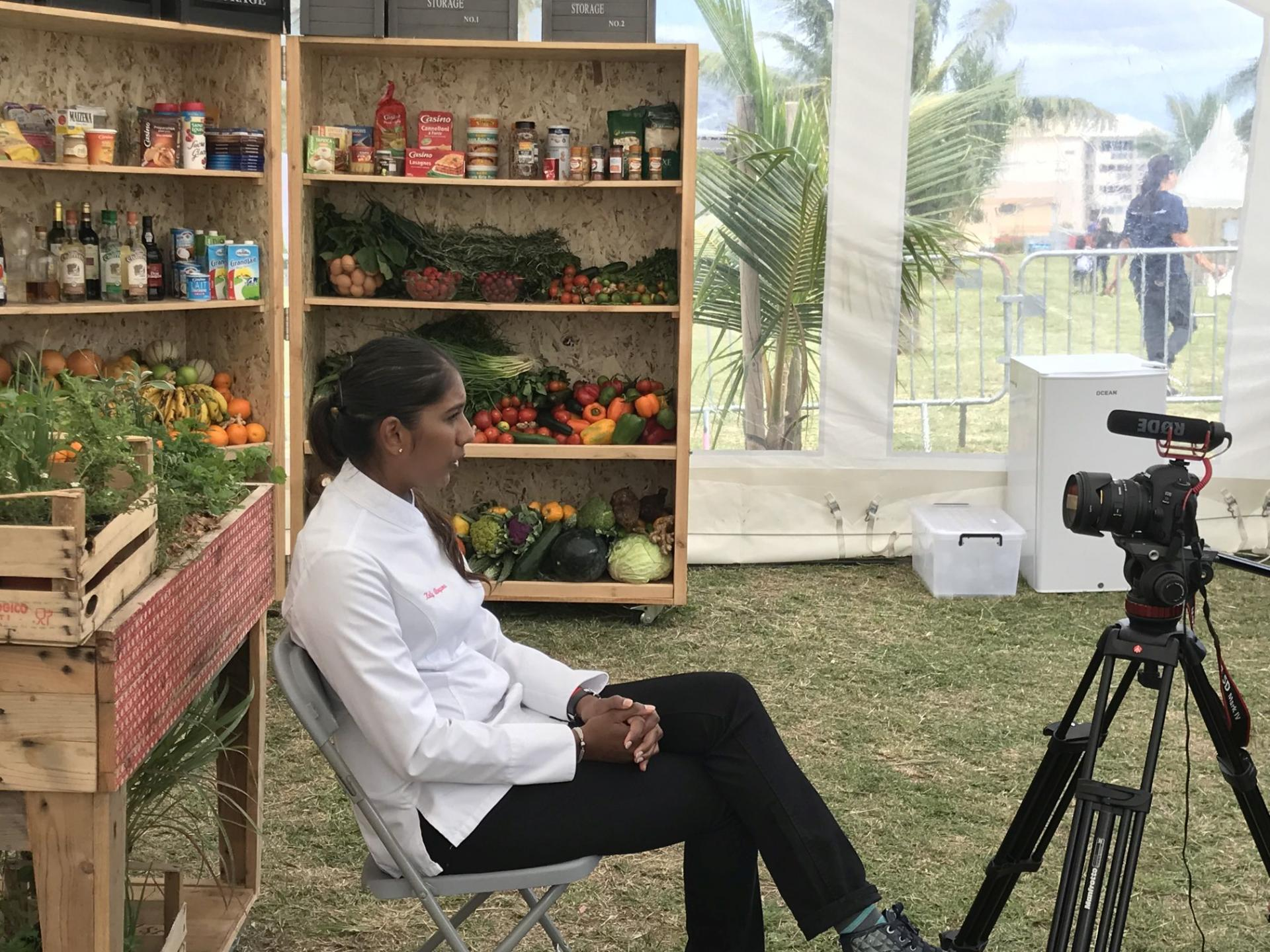 Kelly Rangama en interview