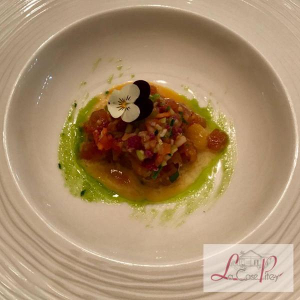 Tartare de thon rouge mariné et légumes bio des Makes